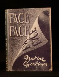 1949 1st Nadine Gordimer Face To Face First Edition Original Dustwrapper Signed