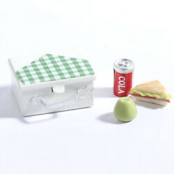 Set Of 2 Tiny Gingham Accented Lunch Pails With Packed Lunch Included
