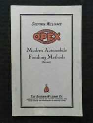 1928 Sherwin Williams Opex Lacquer And Enamel Paint Body Shop Finishing Manual