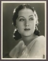 Fay Wray Stunning Art Deco Portrait 1928 Columbia Pictures Linen Back Photo 2919