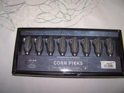 New Williams Sonoma Corn Holders Set Of 8 Corn Picks Perfect For Your Bbq's