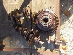 Farmall H Tractor Ih Transmission Matched Set Upper - Lower Gears Shaft Pinion +