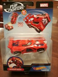 Hot Wheels Marvel Flip Fighters 360 Degrees Flipping Action Spider-man 143 New