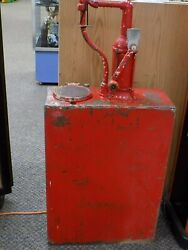 Vintage Lubester 1930's Oil Dispenser Complete With Working Mechanical Counter R