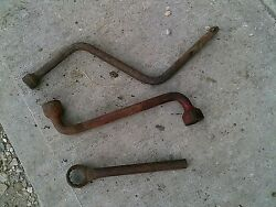 Vintage Tractor Implement 3 Ihc Farmall Mccormick Wrenches Wrench Ih Crank