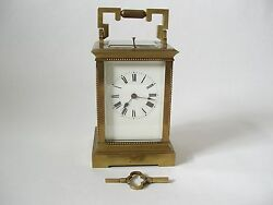 Carriage Clock French 19th Cent Time Strike Repeater