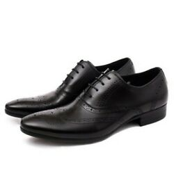 Mens Carving Hollow Out Breathable Lace Up Business Formal Oxfords Shoes Fahsion
