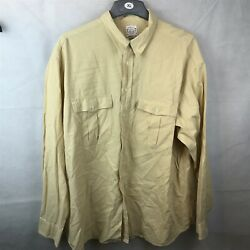 ST MICHAEL YELLOW GENTS MANS MENS CASUAL SHIRT TOP SIZE XL
