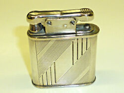 Vintage Gama Semi-automatic Lighter - 900 Silver Case Crescent And Crown-rare