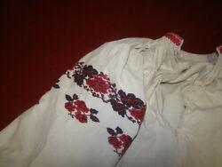 Vintage Ukrainian Linen Embroidered Shirt Cherkasy Region A112