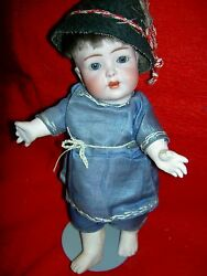 Rare Antique Bisque Franz Schmidt And Co. 1295 Character Toddler Breather Doll