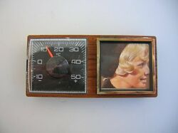 Magnet Dash Thermometer Picture Frame Mercedes Mb Vw Bug Cox Nos