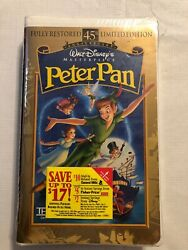 Peter Pan Vhs, 1998, 45th Anniversary Limited Edition 12730