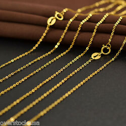 J.lee 31.49 Inch 18k Yellow Gold Necklace 1mm Classic Thin O Chain Necklace 80cm