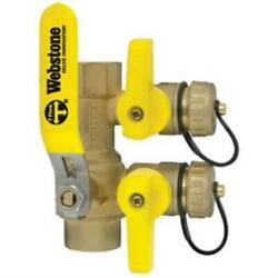 Webstone 48613 3/4 Ips Purge And Fill Full Port Forged Brass Ball Valve