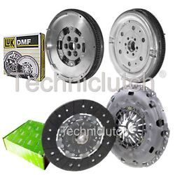 Valeo 2 Part Clutch Kit And Luk Dmf For Audi A3 Convertible 2.0 Tdi