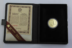 1982 Royal Canadian Mint 22k Proof 100 Constitution Coin W/ Box/coa