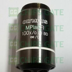 1pcs Used Olympus Microscope Object Lens Umplanfl 100x /0.90 Bd Tested Fast Ship
