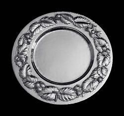 12 STUNNING SILVER PRESENTATION PLATES BY JOHANNES IN GORGEOUS FLORAL DESIGNS