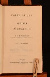 1838 3vol Works Of Art And Artists In England G. F. Waagen 1st