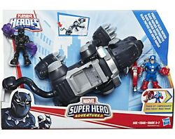 Super Hero Adventures Power Paw Black Panther Deluxe Vehicle And Action Figure