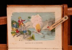 C1856 Hunters And Trappers Their Perils And Adventures Illus Scarce Hand Colour