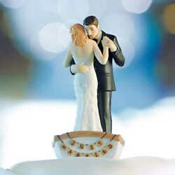 Row Away Rowing Boat Couple Wedding Cake Topper With Custom Hair Colors