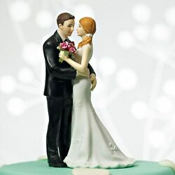 Main Squeeze Cheeky Couple Fun Wedding Cake Topper With Custom Hair Colors