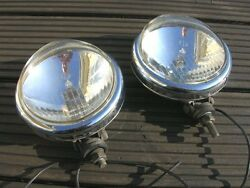 VW LOGO HALOGEN DRIVING FOG LAMPS VW HEB SPLIT OVAL KÄFER COX VINTAGE FOGLIGHTS