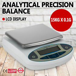 Analytical Balance 15000g X 0.1g Lab Precision Electronic Scale Accuracy Andplusmn0.1g