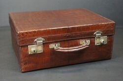 Beautiful Antique Crocodile Suitcase Robinsons Outfitters Singapore
