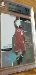 LA Lakers LeBron James 2002-03 UD Inspirations Platinum XRC RC BGS MVP 03-