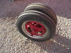 Farmall Ih B Bn Tractor Complete Early Buckle Style Pedestal Hubs + Rims Tires