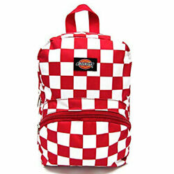 Dickies Unisex Mini Backpack Bag Checkered Red School Travel Casual $14.99