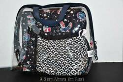 Vera Bradley Iconic 4 Piece Cosmetic Set in Holiday Owls #23815M06 NWT $29.99