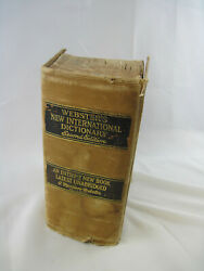 Vintage 1943 Webster's New International Unabridged Dictionary 2nd Edition