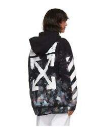 OFF-WHITE MEN  DIAGONAL GALAXY BRUSH ZIP UP HOODIE SIZE XS