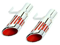 Pg Classic 108s-s3 Mopar 1971-74 B-body 3 Short Style Slotted Exhaust Tips