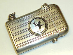 Thorens Lighter Potter And Rogers W. Alpacca Silver Case -1920 -swiss-made- Rare