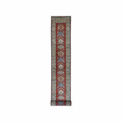 2and0397x19and0399 Red Super Kazak Geometric Xl Runner Hand-knotted Oriental Rug R50605