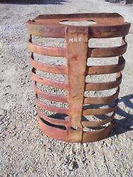 Massey Harris 81 Tractor Original Mh Front Nose Cone Grill