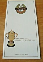 Sandown Race Card, April 1989 - Whitbread Gold Cup And Brown Windsor
