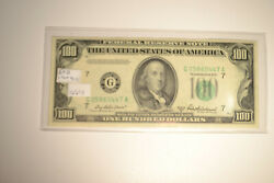 1950b 100 Dollar Bill Federal Reserve Note Chicago