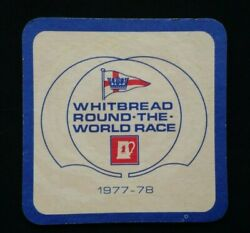 Whitbread Round The World Yacht Race 1977-8 Crossword Beer Mat Coaster New Rare