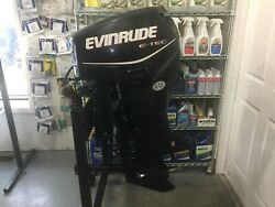 2012 60 HP EVINRUDE 2-STROKE E-TEC LONG SHAFT REMOTE STEER PTPT NO CONTROLS