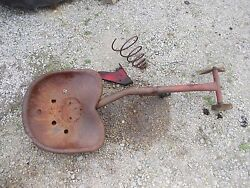 Massey Harris 33 Tractor Mh Original Easy Rider Seat Assembly W/ Metal Pan