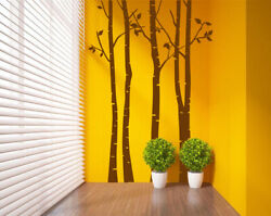 Huge Birch Forest Tree Room Wall Stickers Wall Decal Vinyl Decor UK 274