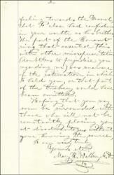DR. MARY EDWARDS WALKER - AUTOGRAPH LETTER SIGNED 03/23/1877