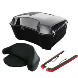 Painted King Tour Pak Trunk Backrest Pad Side Light Fit For Harley Touring 97-13