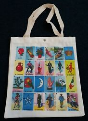 Loteria Mexicana game cards bingo Tote Bags shoulder handbags $9.99